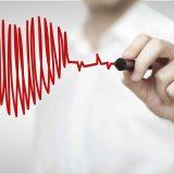 Man drawing heartbeat